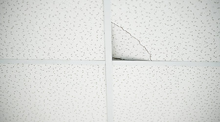 Q Do Missing Ceiling Tiles In A Suspend Create Life Safety Code Deficiency An Existing Business Occupancy Should Section 4 6 12 2 Of The 2017
